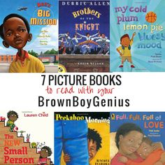 7 Picture Books to Read With Little Brown Boys - Brown Boy Genius African American Books, American Children, Books For Boys, Childrens Books, Black History Books, Black Books, Kindergarten Language Arts, Black Authors, Mentor Texts
