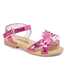 This Fuchsia Daisy Sandal is perfect! #zulilyfinds