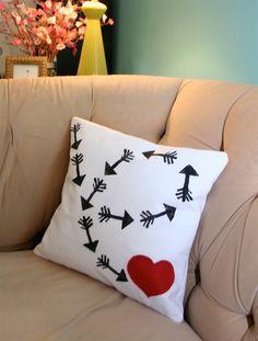 Cupid's arrow Valentine's Pillow