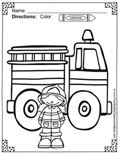 Color For Fun Printable Coloring Pages Free Fire Station Dog Page In The Preview Download TPT Paid
