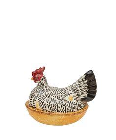Emma Bridgewater Large Earthenware Silver Hen on Nest | Home | Liberty.co.uk