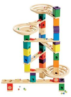 New Kids Gift DIY Building Block Track Run Tower Marble Ball Construction Toy #5