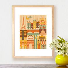ooh la love...  modern paris print on wood from petit collage