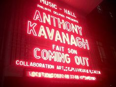Coming out d'Anthony Kavanagh