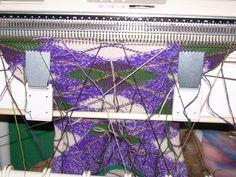 Machine knitted, argyle, Highland knee socks
