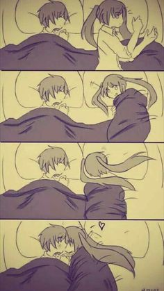 ---- Anime cute kisses sleeping together-proverbs- . - —- Anime cute kisses sleeping together-Proverbs-# Anime # Kiss # Sleeping # Proverbs # Cute - Couple Anime Manga, Anime Couple Kiss, Romantic Anime Couples, Anime Couples Drawings, Anime Couples Manga, Manga Anime, Anime Art, Anime Couples Sleeping, Anime Couples Hugging
