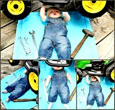 New Ideas For New Born Baby Photography : 5 month baby boy john deer tractor mec. New Ideas For New Born Baby Photography : 5 month baby boy john deer tractor mechanic. Baby Boy Pictures, Newborn Pictures, 6 Month Baby Picture Ideas Boy, Country Baby Pictures, Baby Kalender, Bebe Video, Monthly Baby Photos, Foto Baby, Baby Boy Photo Shoot