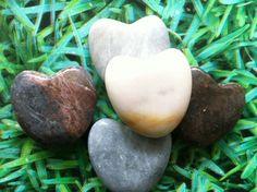 Mooie harten stenen om iemand een hart onder de riem te steken.