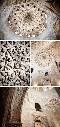 This Mocárabe (also known as Honeycomb or Stalactite) ceiling in the Hall of the Abencerrajes. Alhambra Palace, Spain.