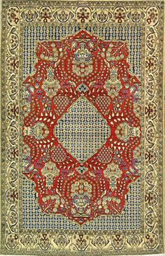 "Qum Persian Rug, Buy Handmade Qum Persian Rug 4' 8"" x 7' 0"", Authentic Persian Rug"