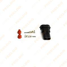 2sets Car Male HID Headlight Bulb Socket Connectors for H8 H9 H11 880 881 LED/HID Lights #J-1866