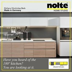 This straight layout design makes it the perfect space-optimising kitchen. Read more: http://homestudioindia.blogspot.in/2016/03/pros-and-cons-of-straight-kitchen-layout.html #StraightKitchen #ModularKitchen #Kitchen #Nolte