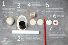 Step-by-Step Clay Diffuser Pendant. Great idea for a make and take class!