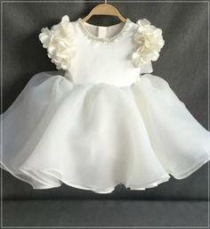 Buy Online Beautiful Beaded Applique Round Neckline Floral Cap Sleeve Tea Length Big Bow Back Baby Infant Toddler Little & Big Girl Flower Dress GIRLYSHOP.NET. FREE SHIPPING!
