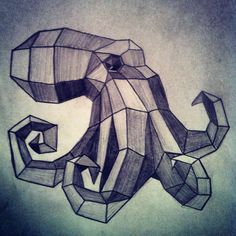 I saw this on a website and decided to draw it. It would make a pretty stellar tattoo... But only 4 tentacles kills me.