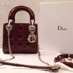 Lady Dior red Patent