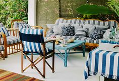 10 Ways to: To create a coastal outdoor living room