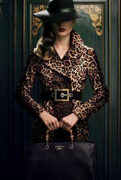 "Andreea Diaconu for Gucci ""Bamboo Confidential"" 2013."