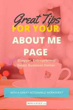 Your About Me Page, Blog, How To Start A Blog, How To Create A Blog, Blogging, Start A Blog, How To Make A Successful Blog