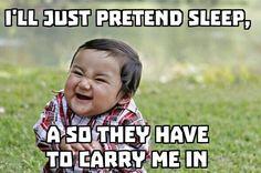 Evil toddler!