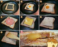 Desayunito con pan cuadrado