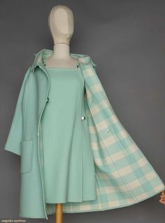 Courreges Duffle Coat & Matching Dress, Matching coats and dresses were a BIG thing in the 60's.