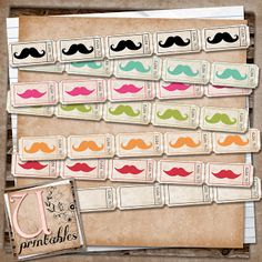 FREE Printable - Moustache Tickets
