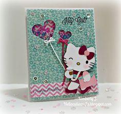Kimberly's Crafty Spot: Happy Birthday to Me! Hello Kitty Shaker card. August 2015.