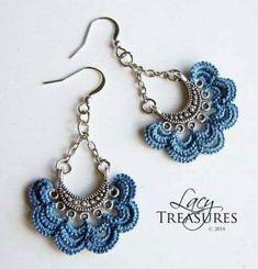Crochet accessories 386535580519877506 - Super Crochet Jewelry Accessories Ideas Source by Tatting Earrings, Tatting Jewelry, Lace Jewelry, Tatting Lace, Jewelry Model, Textile Jewelry, Jewelry Crafts, Jewelery, Handmade Jewelry