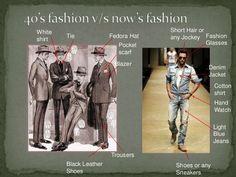 1940'S MEN'S FASHION V/S TODAY'S MEN'S FASHION