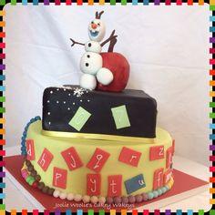 Montessori meets Olaf cake!