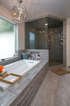 43 good small master bathroom remodel ideas 30 - For the Home - Bathroom Decor Modern Master Bathroom, Small Bathroom, Bathroom Ideas, Master Bathroom Designs, Master Bathrooms, Bathroom Organization, Master Bathroom Layout, Bathroom Mirrors, Budget Bathroom