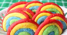Nothing like a plate full of rainbows to brighten up any day! Ever since I spotted  rainbow cookies on The Cookie Shop (Love this blog!) I ...