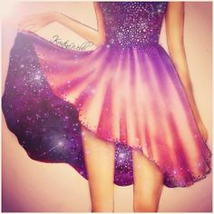 Kristina Webb Galaxy Dress This could be a legit prom dress (depending on how long it actually is).