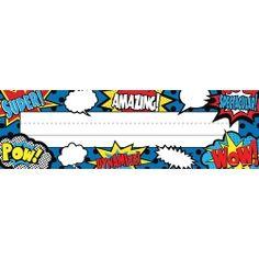 Superhero Name Plate, TCR5588