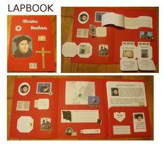 nous avons réalisé un lapbook sur Martin Luther