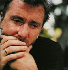 """Tim Roth for a group of photos called """"when grown men cry"""" by Sam Taylor-Woods"""
