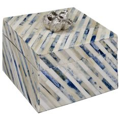 Redefine contemporary style with the Small Indigo Strip Box from Regina Andrew Design. Decorative Accessories, Decorative Boxes, Bedroom Accessories, Cow Horns, Office Set, Brand Collection, Family Room Design, Small Boxes, Stripes Design