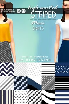 High-Waisted Maxi Skirts at Marvin Sims via Sims 4 Updates