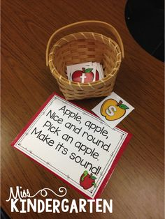 Great ideas for letter sounds/phonics practice! Miss Kindergarten: Phonics and Patterning Fun Literacy Activity Apple Activities, Phonics Activities, Alphabet Activities, Reading Activities, Guided Reading, Letter Sound Activities, Learning Phonics, Reading Tutoring, Alphabet Crafts