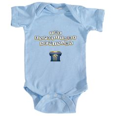 Do you or does someone you know attend The Expositors Seminary? Display your support with this unique TES alphabet block infant bodysuit