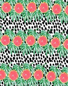 Graphic grapefruit.