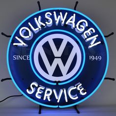 Volkswagen VW Service Neon Sign                                                                                                                                                                                 More
