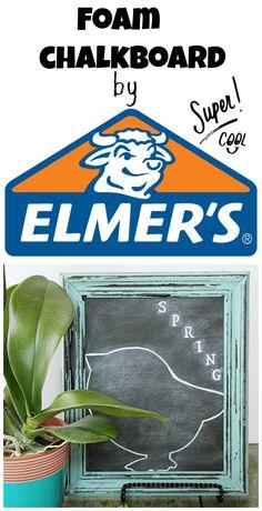 #Spring #chalkboard. foam, #Elmers #dollartree