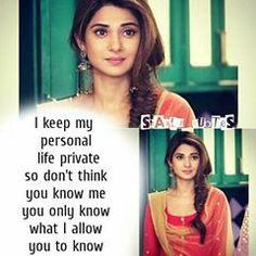 Pin/karishma Maya Quotes, Motivational Quotes In Hindi, Girly Quotes, Hindi Quotes, Positive Quotes, Attitude Quotes For Girls, Girl Attitude, Girly Facts, Attitude Shayari