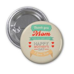Happy Mother's day typography design Button