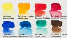 Choosing a good selection of colours for your basic palette means that you will be able to mix any colour you need from just eight to 12 colours.