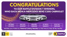 Ithuba National Lottery | Home National Lottery, Winning Numbers, Mercedes Benz, How To Apply