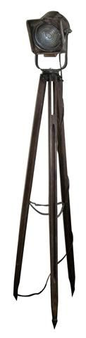 For all the photographers out there, a industrial tripod light.  It's perfect to place by a desk.