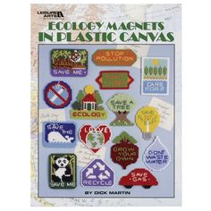 Leisure Arts-Ecology Magnets In Plastic Canvas
